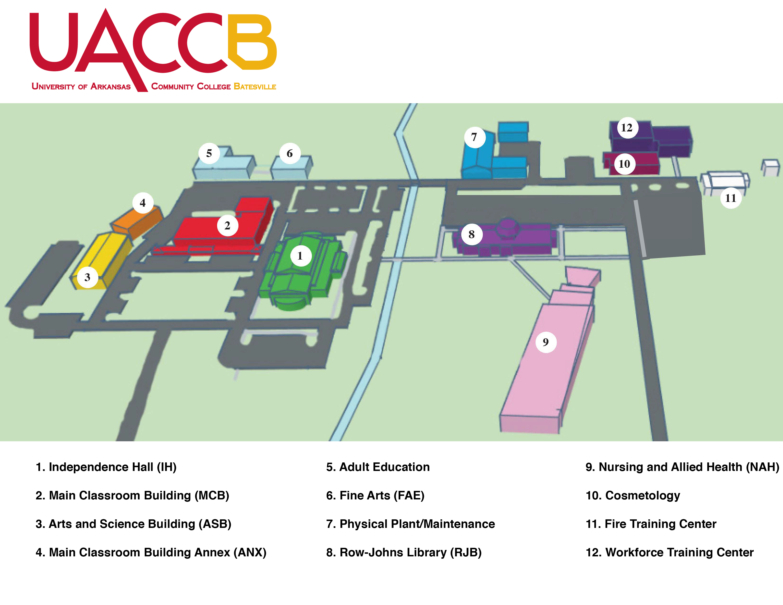 UACCB campus map